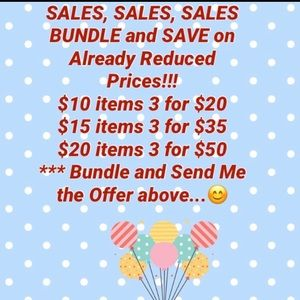 🌸BUNDLE and SAVE on (3) or more items!!!🌸